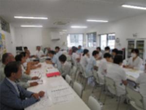 雄岡病院の防災訓練