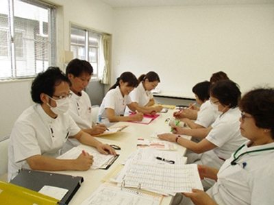 雄岡病院の訪問看護調整室